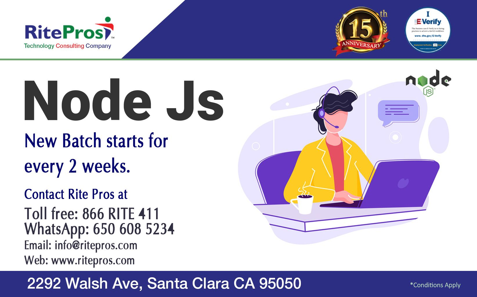 Nodejs Batch Starts Every 2 Weeks Corporate Training Technology Consulting Software Development