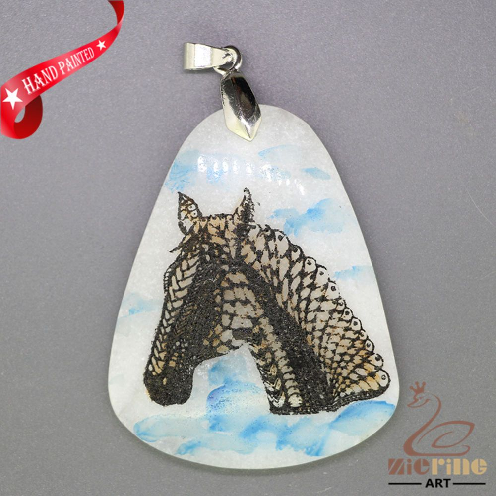 FASHION NECKLACE COLORING PAGES HORSE PENDANT WHITE GEMSTONE
