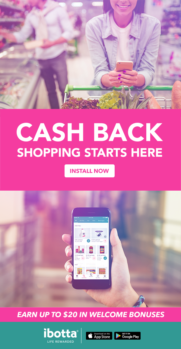 Whenever you shop, start with Ibotta the free app that