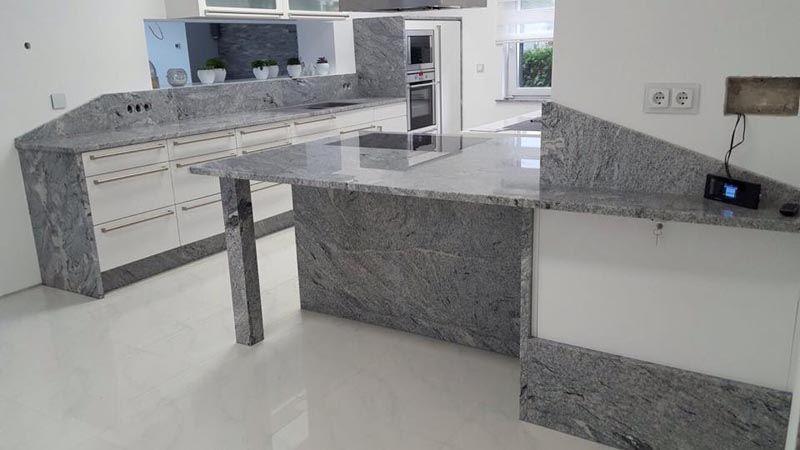 Aufmaß, Lieferung und Montage der Viscont White #Granit - kuchenarbeitsplatten aus granit