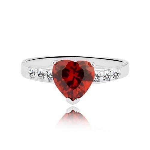2.30 carat Designer Heart shape 92.5 Silver Engagement-Wedding Ring Set rare #Solitaireaccent