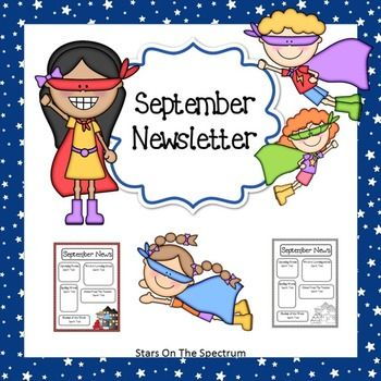 Superhero Theme Classroom Newsletter. This Free Back To School