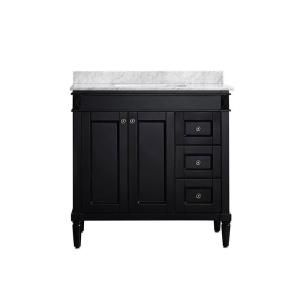 Roswell Catania 36 In W X 22 In D X 35 In H Vanity In Espresso With Marble Vanity Top In White With Basin 715036 Es Ca Nm Marble Vanity Tops Vanity White Marble Countertops