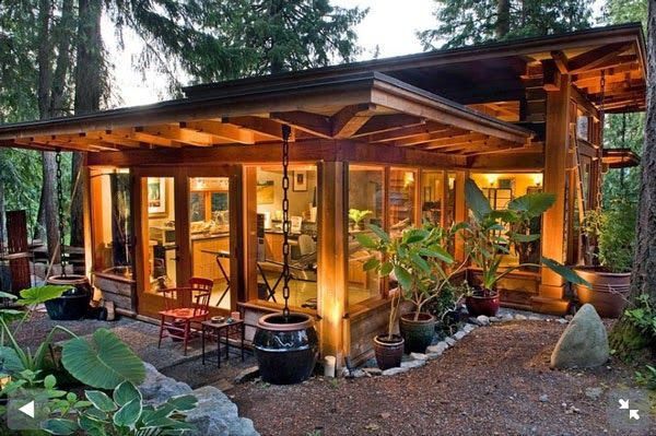 Honey I Shrunk The House Tiny House In The Woods With Lots Of Windows Tiny House Movement Small House Tiny House Design