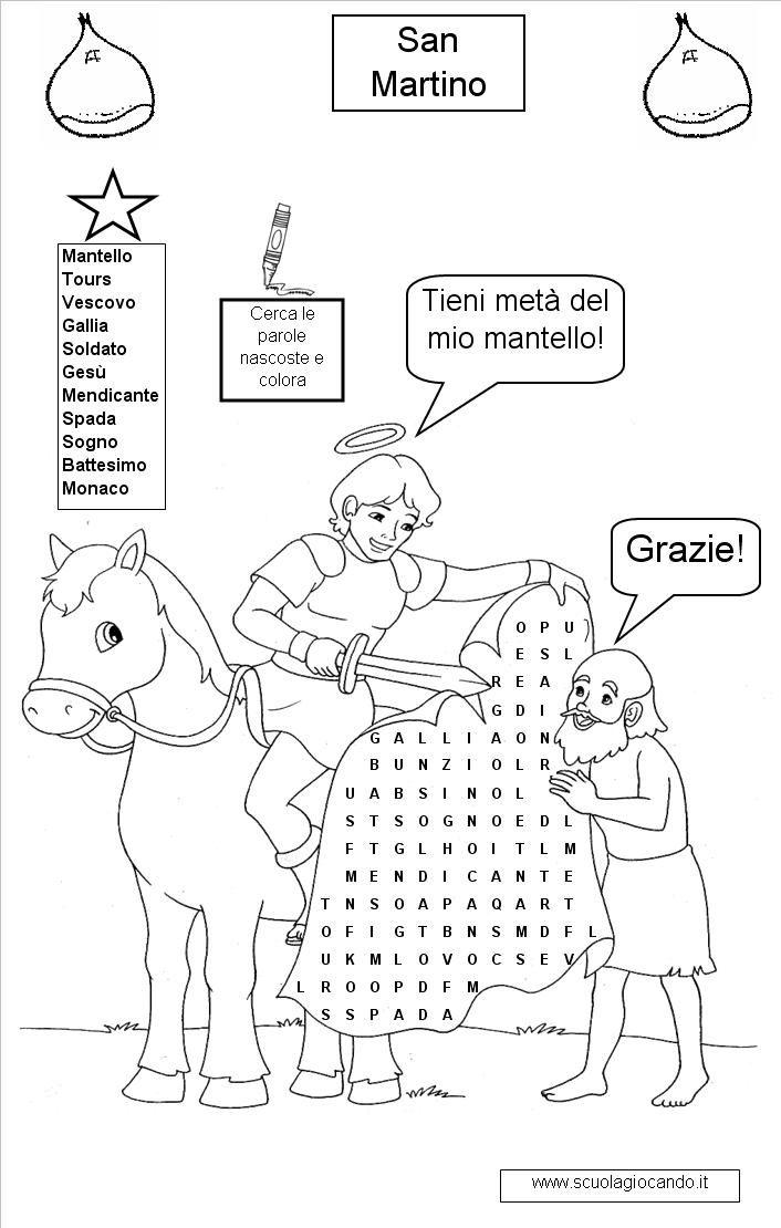 San Martino San Martino Disegno Da Colorare Italian Lessons