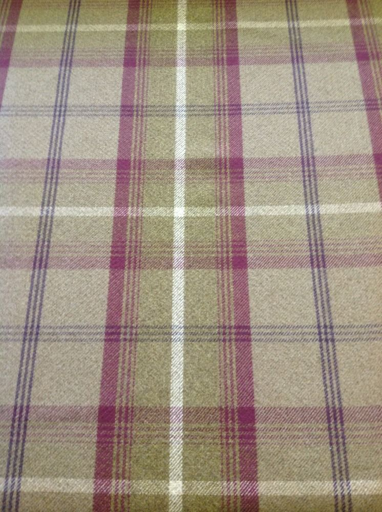 Balmoral Tartan Large Check By The Meter In Heather Green