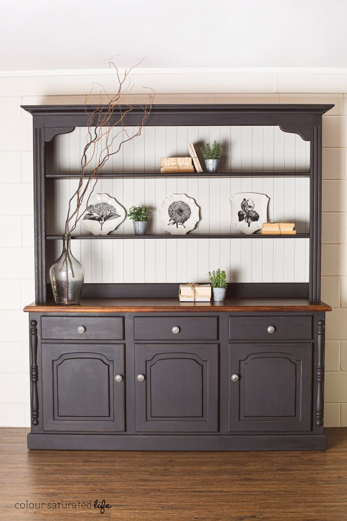 Transforming A Large Kitchen Cabinet With Miss Mustard Seed Milk Paint In Typewriter And Grain Sack Creating Pottery Barn Style Finish