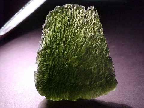 Moldavite: tektite, stone of intense frequency & high