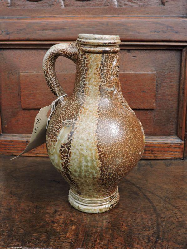 17th Century Antique Stoneware Bellarmine Jug, Circa 1620-40