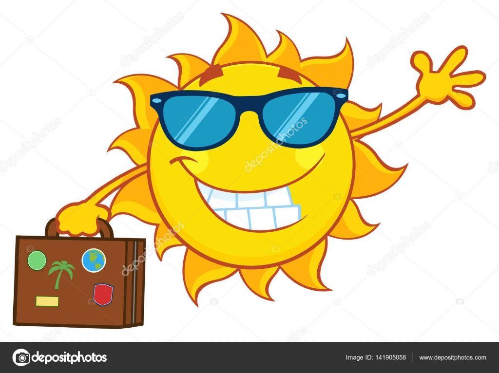 Herunterladen Lächelnd Sommersonne Stockillustration 141905058