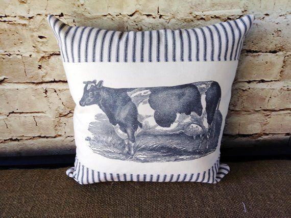 Cow Pillow Cow Decor Farm Animal Pillows Farmhouse Cow Etsy Animal Pillows Cow Decor Pillows