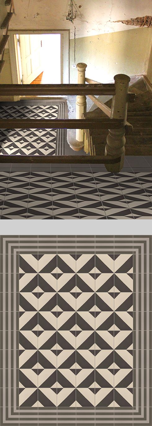 Geometrical (tiled floor, Golem Kunst tiles) SW Use partial as - fliesen bordre