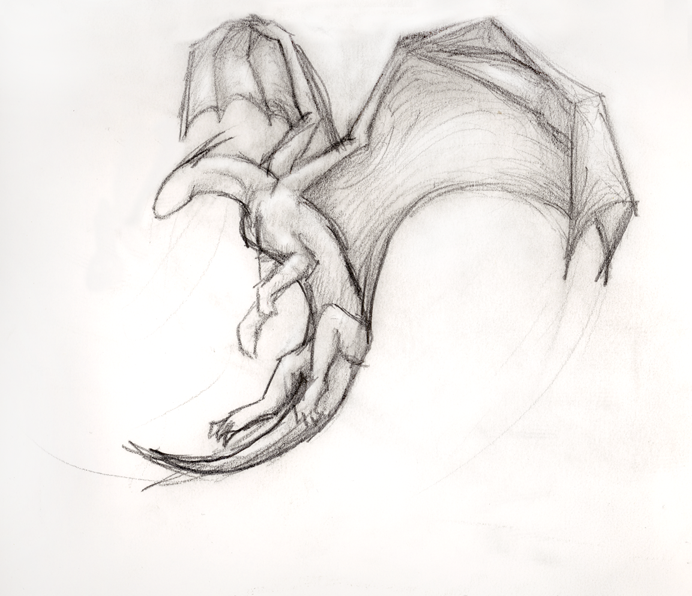 How To Draw A Dragon In Pencil
