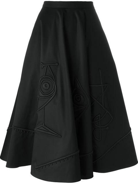 Tomas Maier юбка А-образного кроя с вышивкой