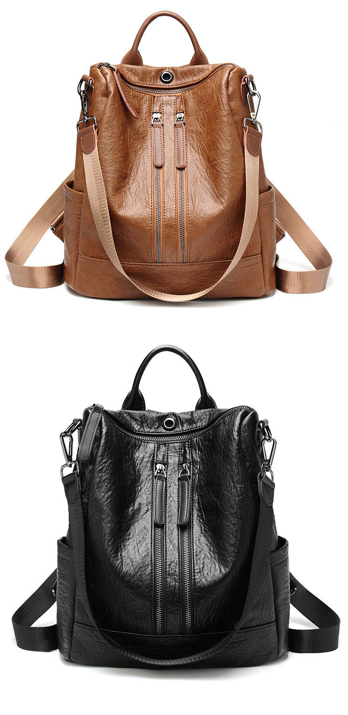e63b6ff4e4  46.99 USD Sale! Free Shipping! Shop Now! Women Solid Travel Leisure Soft  Leather