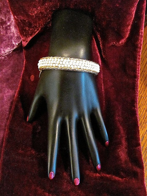 Stunning Rare Hattie CARNEGIE Faux Seed Pearl by Irefuse2growup, $99.00