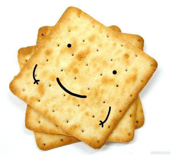 Печенье с глазками, улыбкой и ручками — Картинки для ...