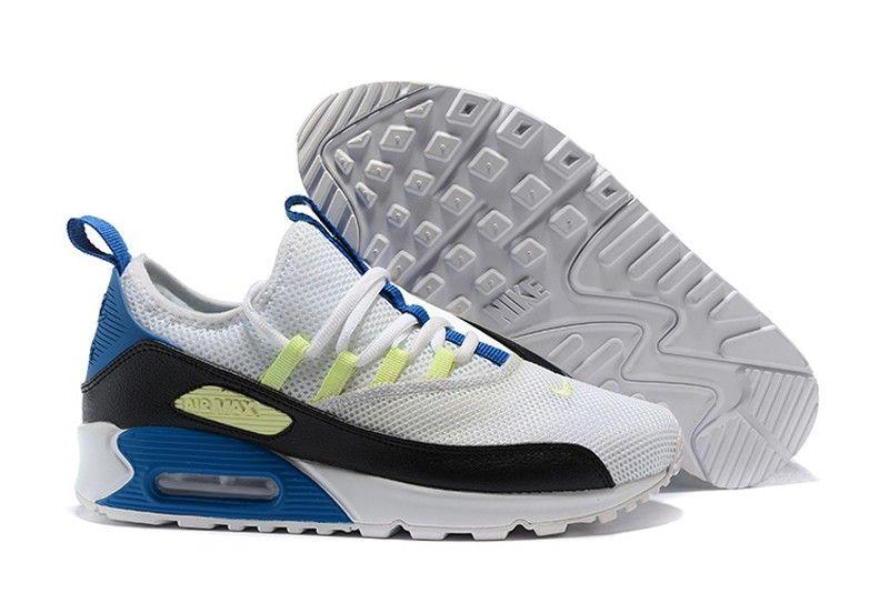 best service e920d 424fa New This Year Nike Air Max 90 EZ White Black-Blue-Yellow Men s