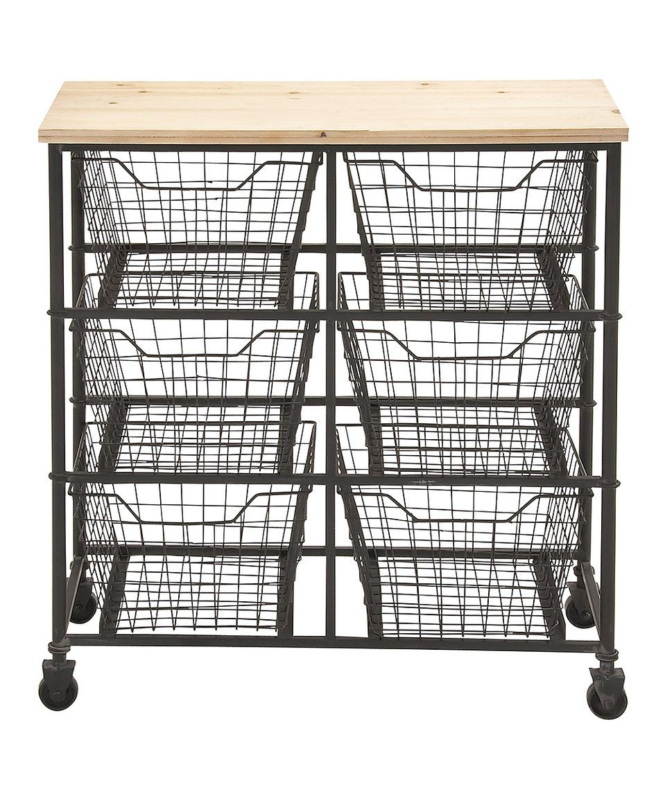 Take A Look At This Wide Mesh Drawer Storage Cart Today!