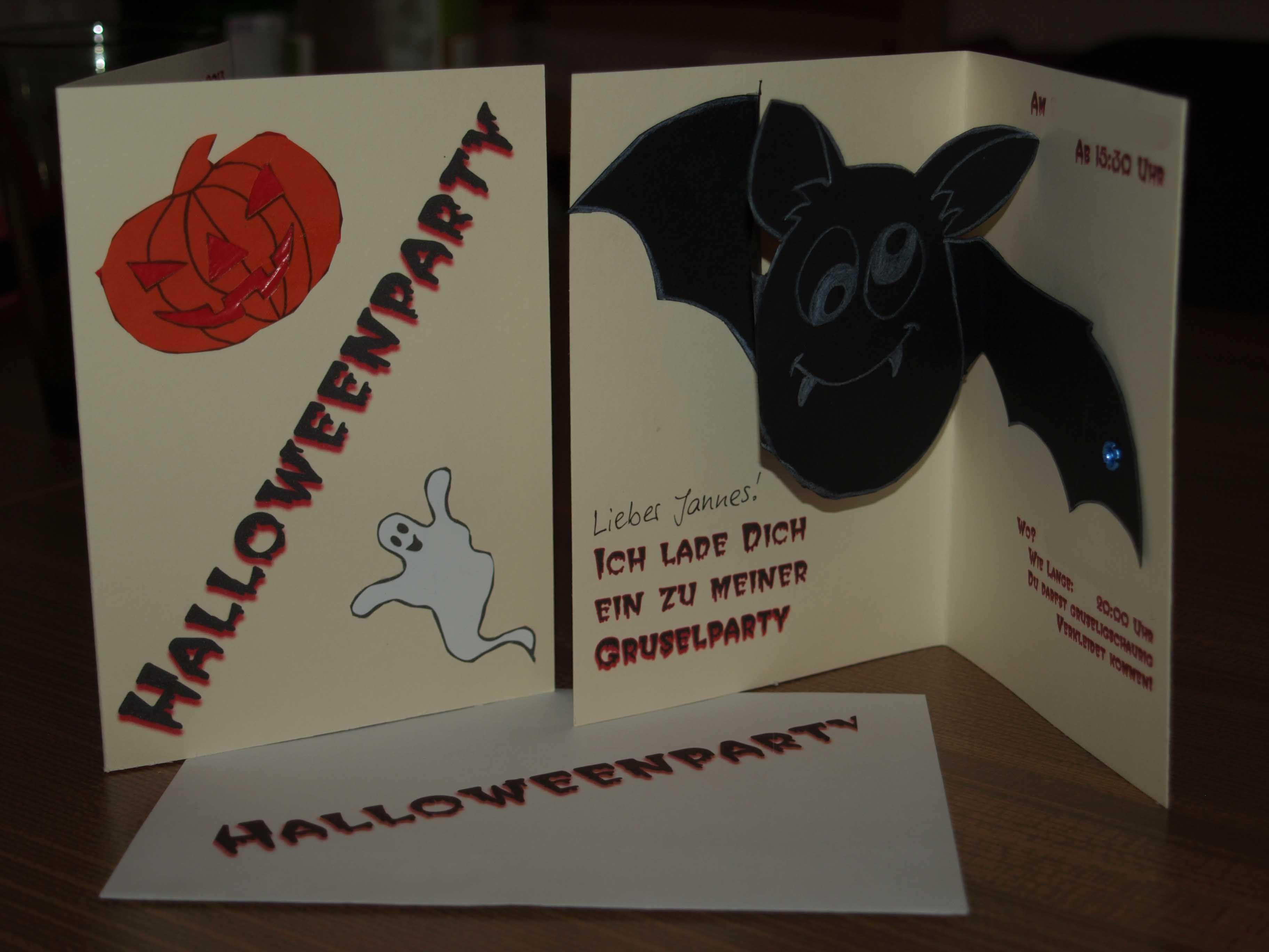 halloween-einladungskarte 2013   einladungskarten, karten
