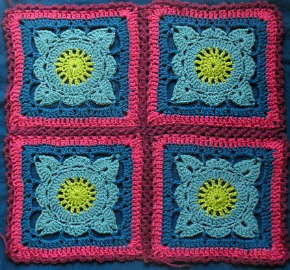 crochetingclub: Jan Eaton: willow granny square tutorial   Tığ ...