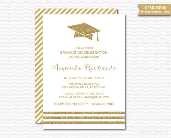 White gold graduation invitation printable graduation party grad white gold graduation invitation printable graduation party grad celebration gold glitter grad cap minimalist modern announcement digital filmwisefo