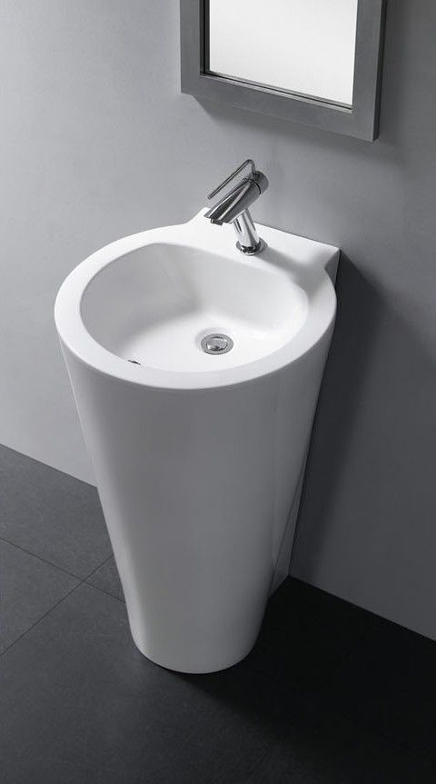 Modern Bathroom Pedestal Sink Durazza Modern Pedestal Sink Pedestal Sink Modern Bathroom Design