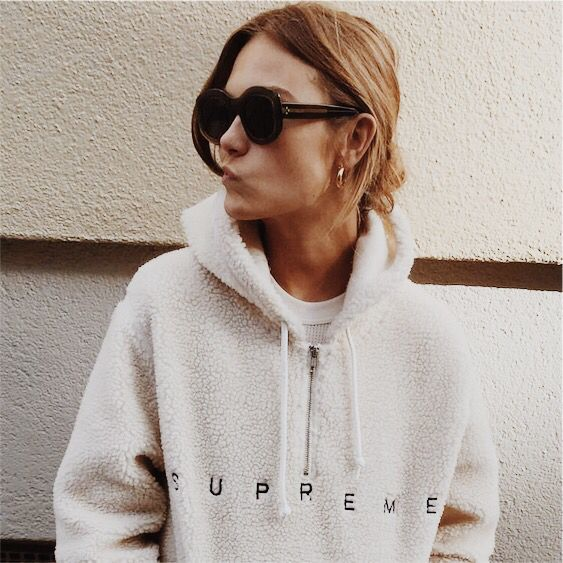 cream fleece zip up hoodie | I need to invest in more