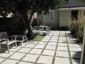 Cut Up An Existing Concrete Slab To Make A Paver And Plants Patio