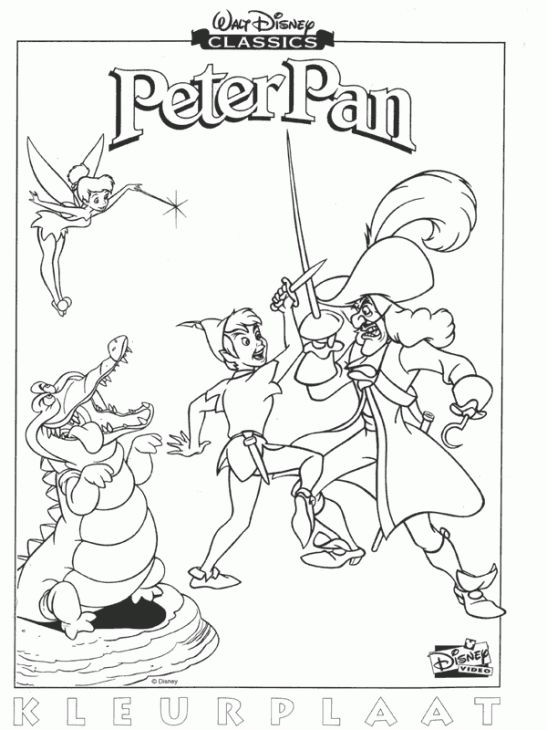 Free Printable Coloring Sheet Of Disney Peter Pan | Disney Coloring ...