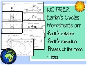earth cycles science worksheets printables worksheets revolution and moon. Black Bedroom Furniture Sets. Home Design Ideas
