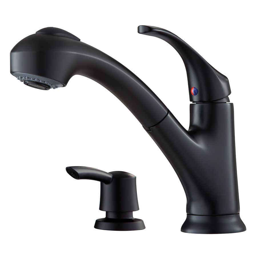 Pfister Shelton Black 1-Handle Pull-Out Kitchen Faucet | The House ...