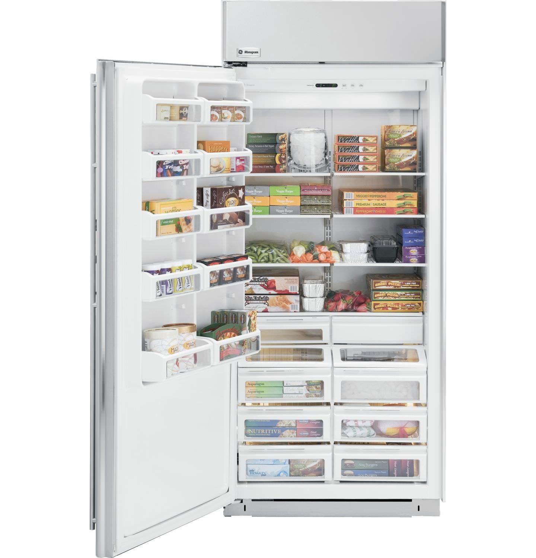Upright Freezer / Residential / Stainless Steel / Energy Saving    ZIFS360NXLH   Monogram