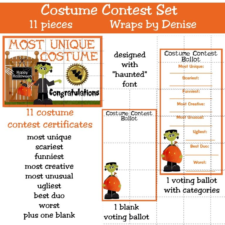 Costume Contest Categories Google Search