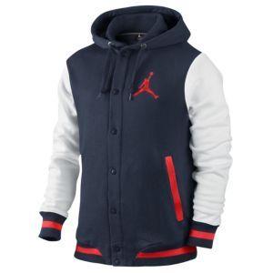 Jordan Varsity Hoodie - Men's - Basketball - Clothing - Black/Dark Grey/Dark
