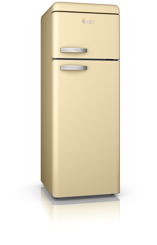 swan sr11010cn retro top mounted fridge freezer in cream  amazon co uk  swan sr11010cn retro top mounted fridge freezer in cream  amazon      rh   pinterest com