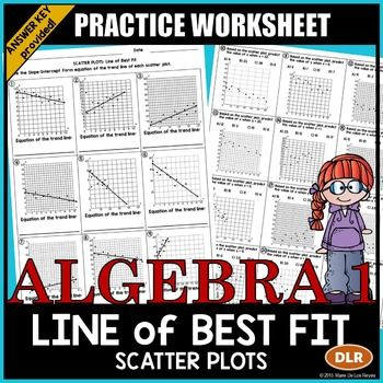 Scatter Plots And Line Of Best Fit Practice Worksheet Line Of