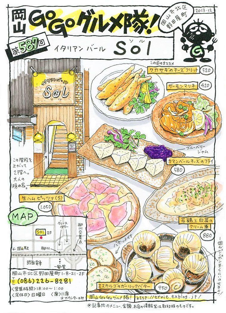 go go岡山・Go Go グルメ隊!! Food illustrations, Food drawing