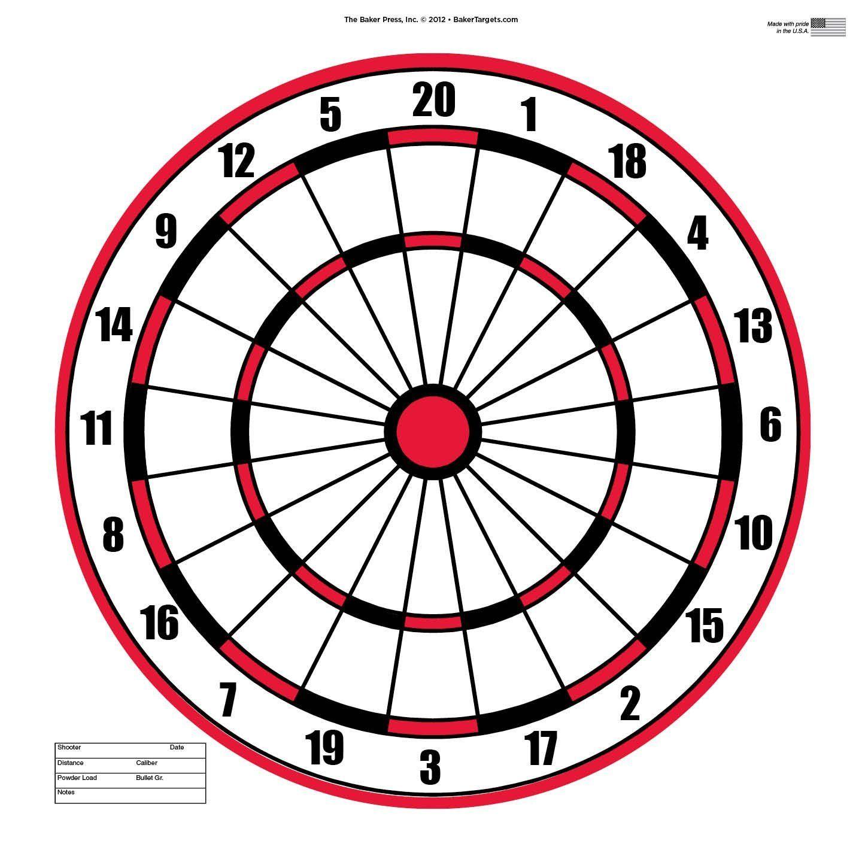 "Dart Board Target Pack of 50 23"" X 35"