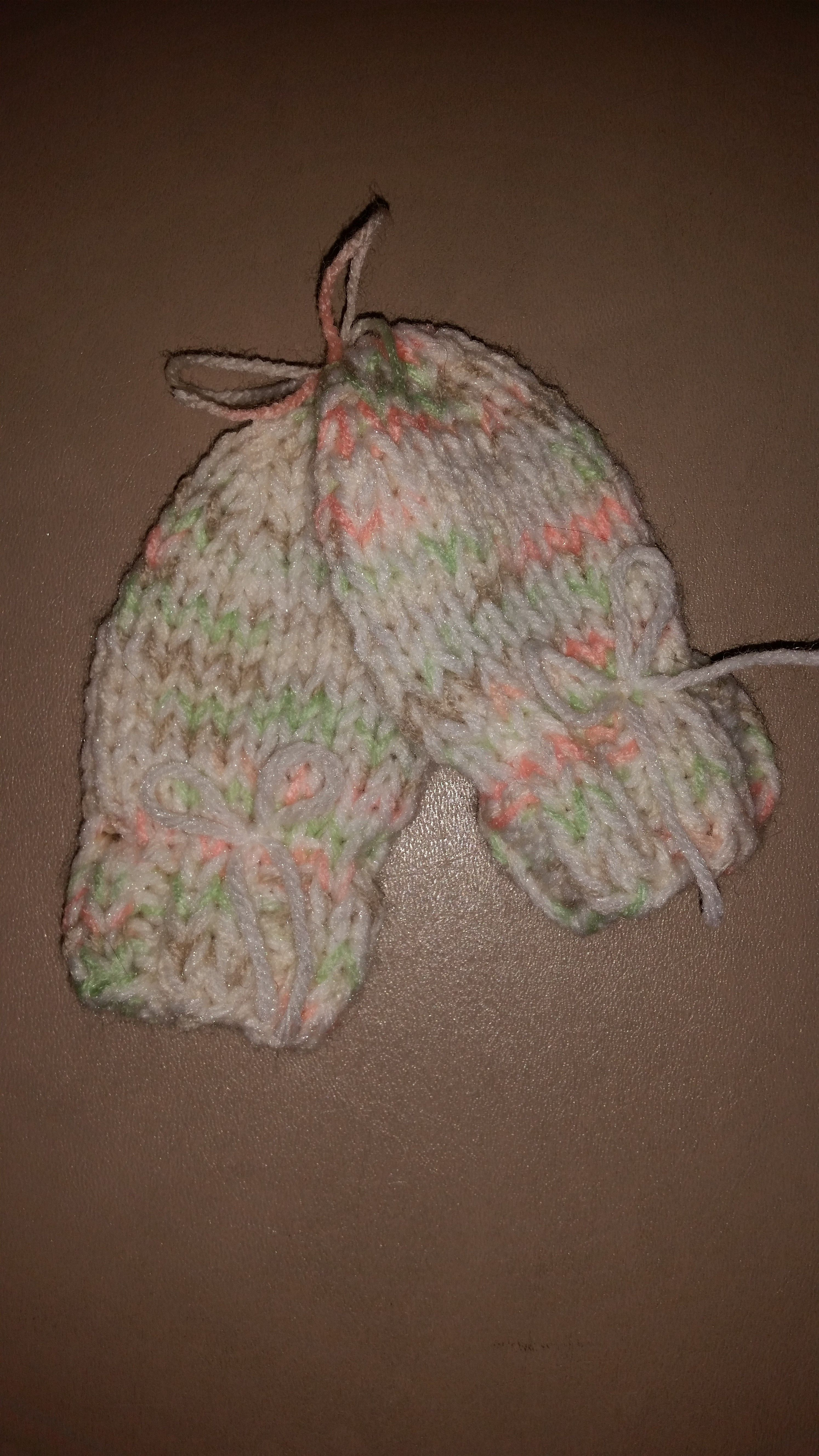 These simple mittens are worked on straight needles   Knit ...