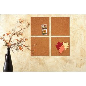 Quartet Natural Cork Tiles 12 X 12 Frameless 4 Count 102w B Walmart Com Cork Tiles Hanging Photos Cork Board Tiles