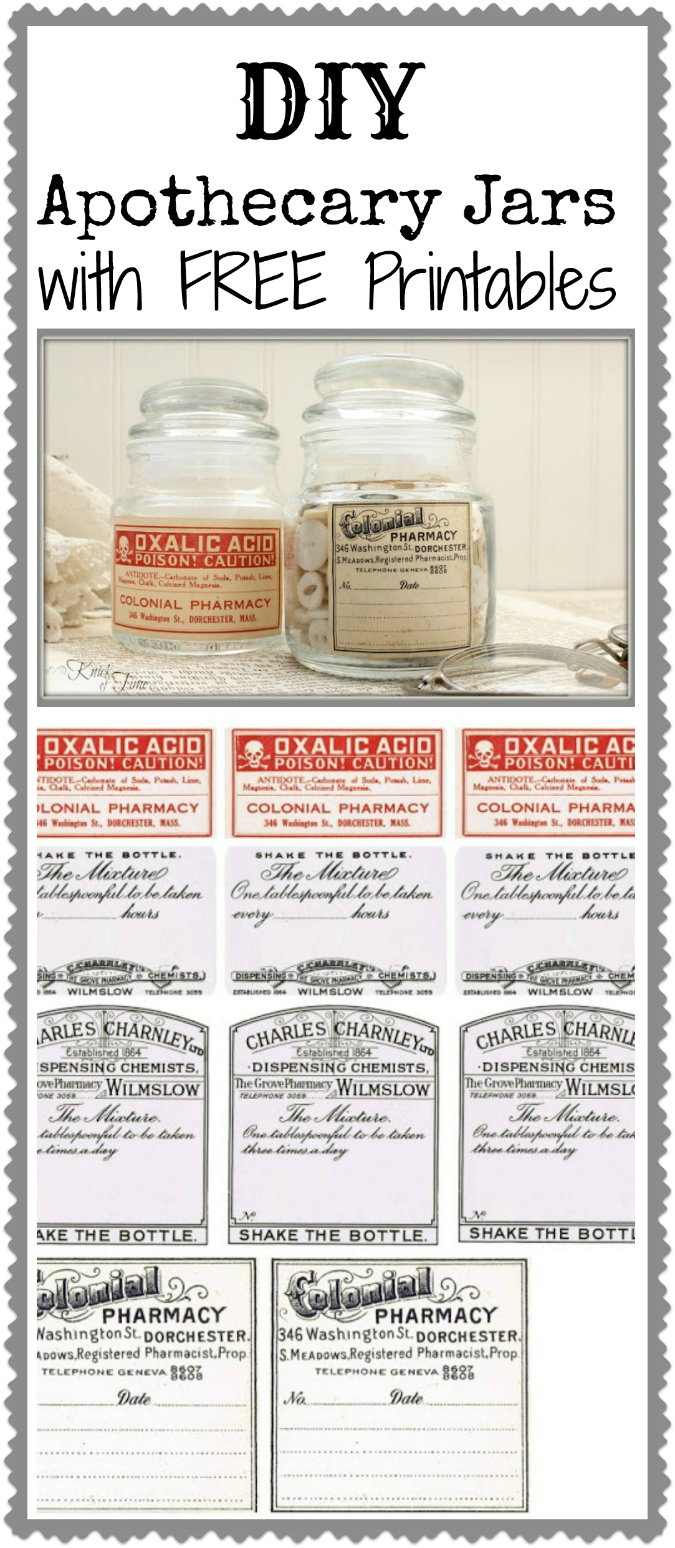 Labels antique apothecary