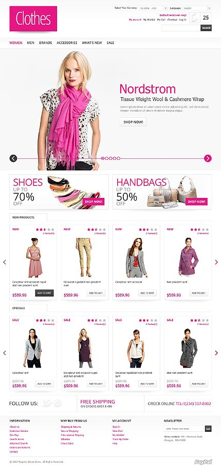fashion ecommerce store development