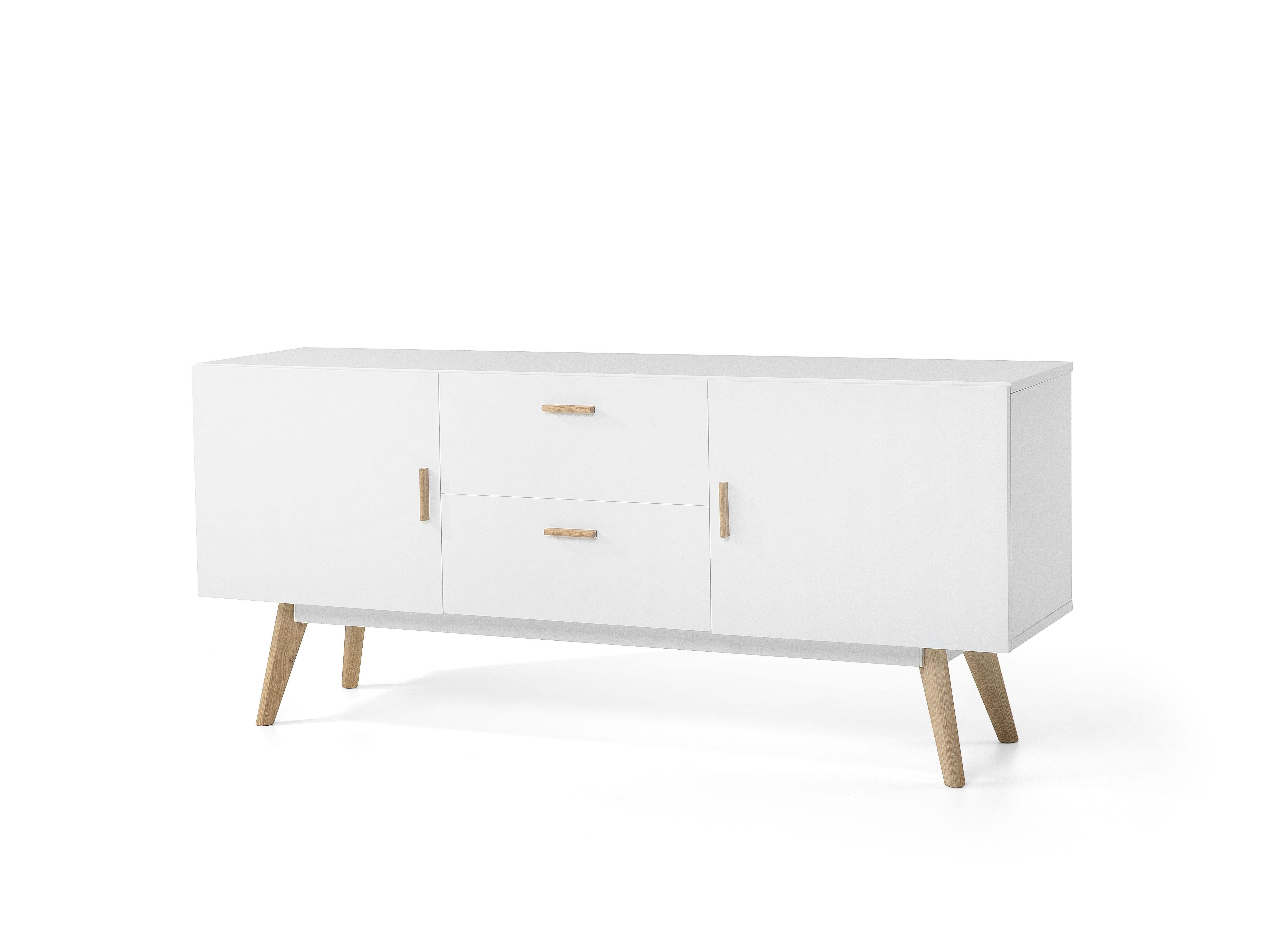 Dressoir wit commode sideboard woonkamerkast meet for Decoratie op dressoir