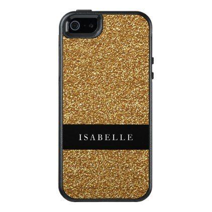 Gold Glitter Black IPhone SE 5 5s Otterbox Case