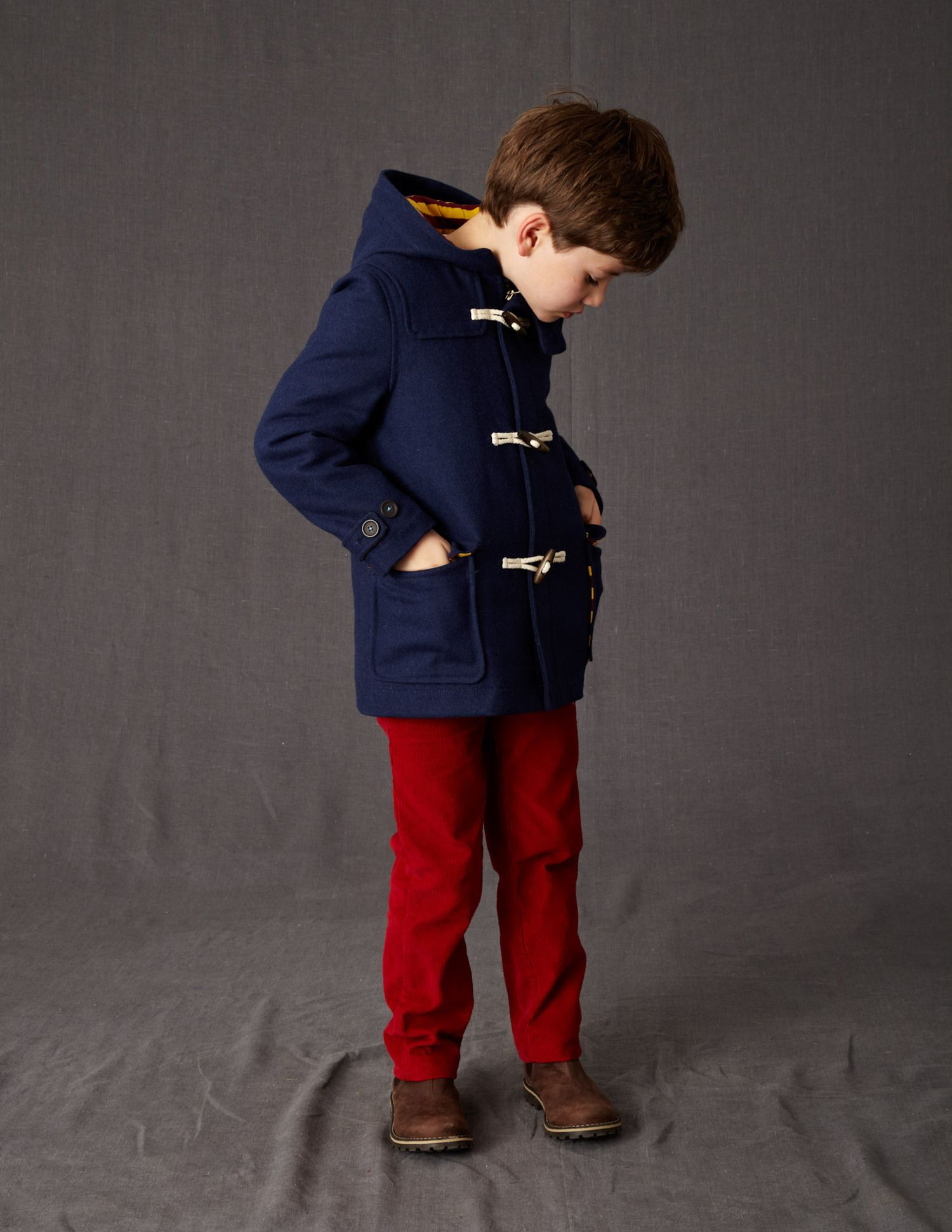 Navy Duffle Coat Kids