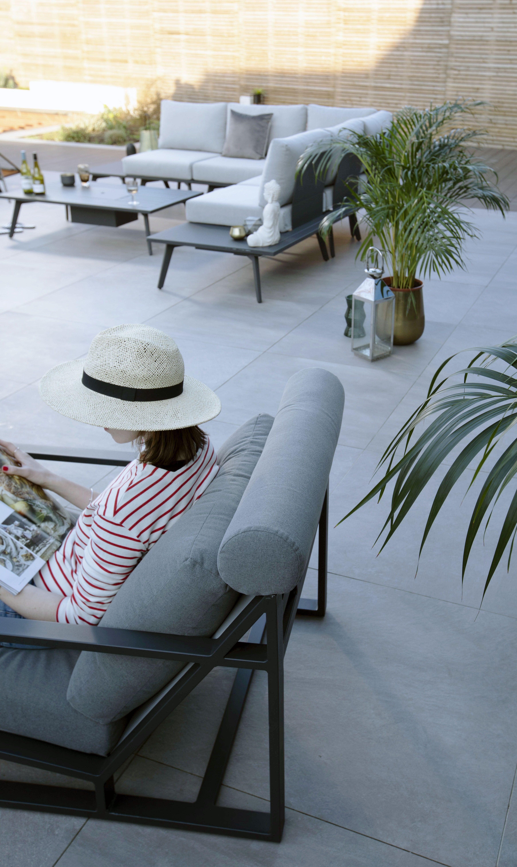 Strange Verano Grey Garden Lounge Chair And Footstool Danetti Cjindustries Chair Design For Home Cjindustriesco