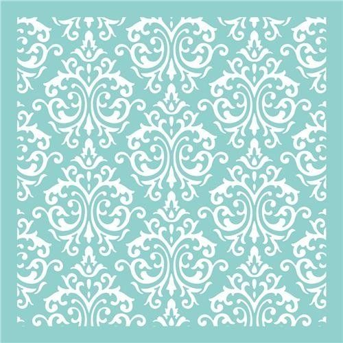 Cream stenciled onto my Teal wall