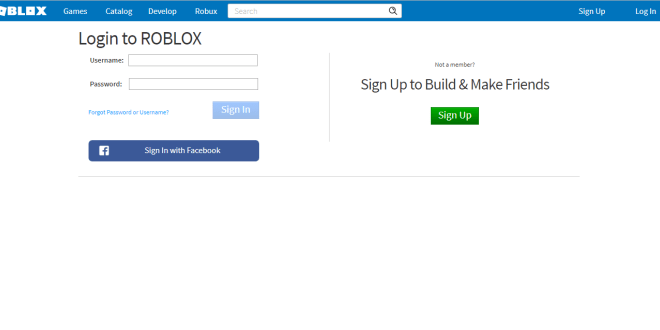Roblox Login Unblocked Roblox Sign In Game Roblox Play For Free