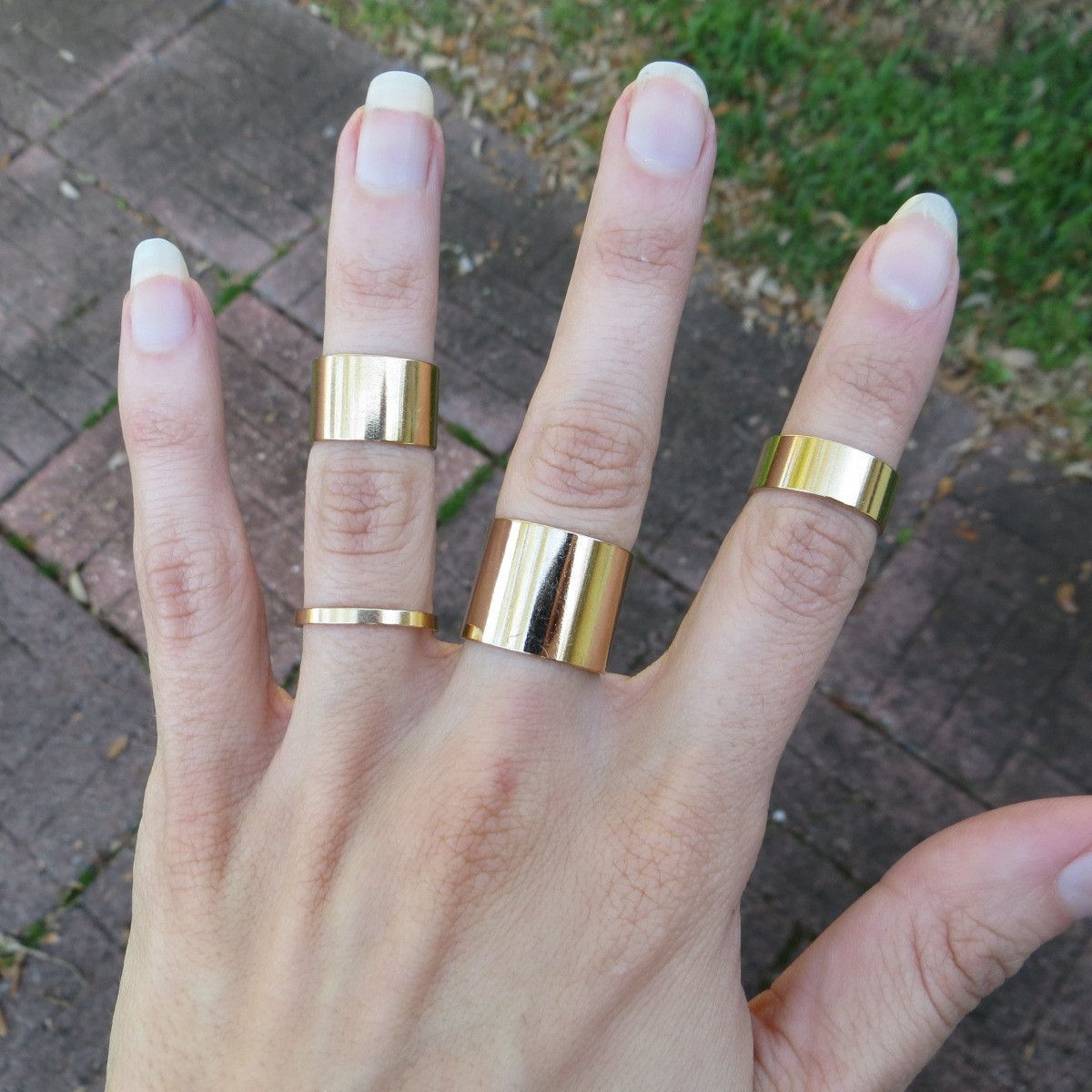 bands finish rings jewellery satin gold band pin minimalvs wide by